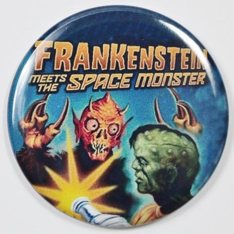 Frankenstein Meets the Space Monster Movie Poster FRIDGE MAGNET Monster Film