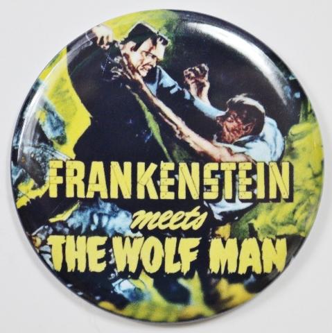 Frankenstein Meets The Wolfman Movie Poster FRIDGE MAGNET Monster Film