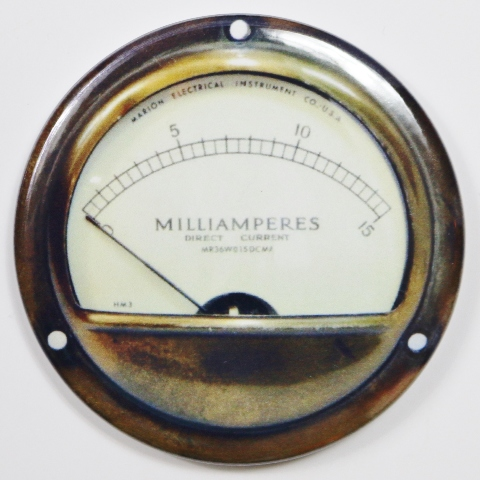Marion Electric Steampunk Gauge FRIDGE MAGNET Meter Vintage Style 2 1/4 inches