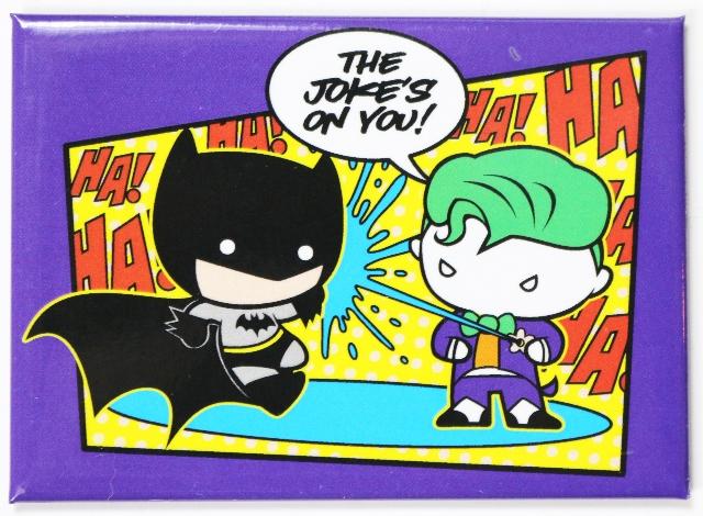 Chibi Batman and Joker FRIDGE MAGNET Comic Book DC Comics Cape Crusader Gotham