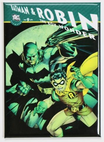 Batman and Robin Boy Wonder FRIDGE MAGNET DC Comics Batmobile G17