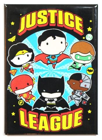 Chibi Justice League FRIDGE MAGNET DC Comics Batman Superman Wonder Woman Flash S15
