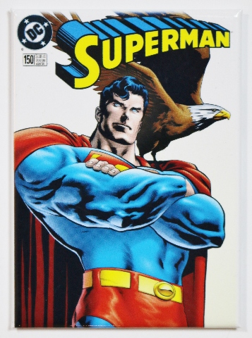 Superman DC Comics Issue 150 FRIDGE MAGNET Justice League Man of Steel Comic Book