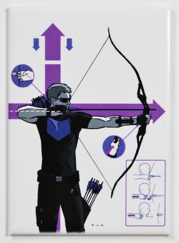 Hawkeye FRIDGE MAGNET Marvel Comics Avengers Archer Stan Lee Superhero Bow Arrow