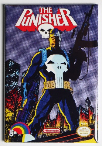 Nintendo DC Comics The Punisher FRIDGE MAGNET Video Game Box Classic NES