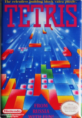 Details about Nintendo Tetris FRIDGE MAGNET Video Game Box Classic NES