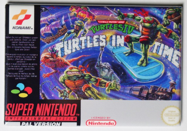 Super Nintendo TMNT Turtles In Time FRIDGE MAGNET Teenage Mutant Ninja Turtles 4
