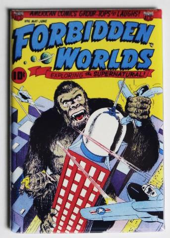 Forbidden Worlds Comic Book #6 Cover FRIDGE MAGNET American Comics Group King Kong