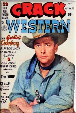 Crack Western No 72 Cover FRIDGE MAGNET Cowboy Comics Comic Book Gun