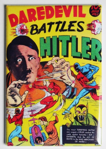 Daredevil Battles Hitler FRIDGE MAGNET Image Comics Comic Book Nazis WW2