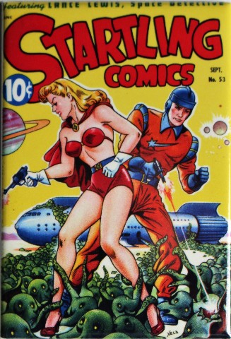 Startling Comics No 53 FRIDGE MAGNET Pin Up Girl Aliens Sci Fi Comic Book