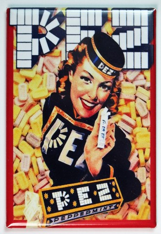 Vintage Style PEZ Girl FRIDGE MAGNET Vintage Style Candy 1940s