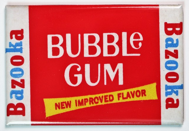 Bazooka Bubble Gum FRIDGE MAGNET Vintage Style Candy Chewing Gum Pack