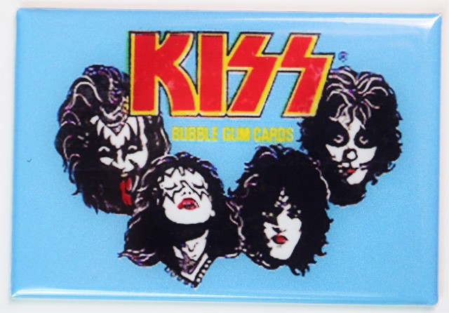 KISS Bubble Gum Cards Wax Pack FRIDGE MAGNET 1970s Rock N Roll