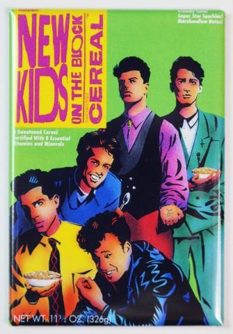 New Kids On The Block Cereal FRIDGE MAGNET NKOTB Kitchen Decor 1990s