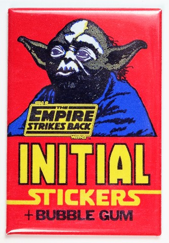 Star Wars The Empire Strikes Back Initial Stickers and Bubble Gum FRIDGE MAGNET