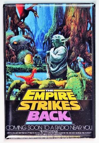 Star Wars The Empire Strikes Back NPR Poster FRIDGE MAGNET Yoda