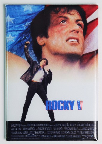Rocky 5 Movie Poster FRIDGE MAGNET Boxing Stallone 1980's