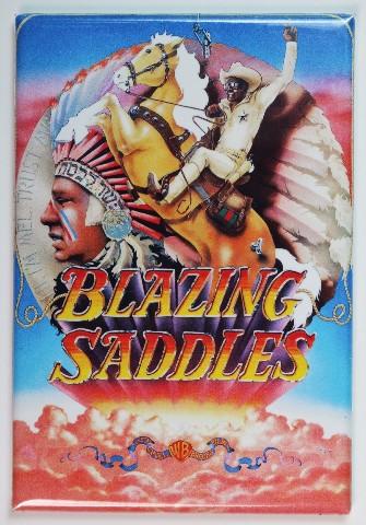 Mel Brooks Blazing Saddles Movie Poster FRIDGE MAGNET Comedy 1970s