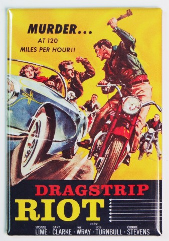 Dragstrip Riot Movie Poster FRIDGE MAGNET 1950s Racing Race Car