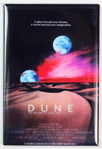 Dune Movie Poster FRIDGE MAGNET 1980s Sci Fi B Flick