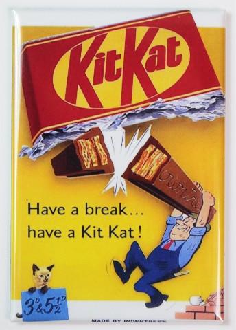Kit Kat Have a Break FRIDGE MAGNET Candy 1950s Vintage Ad Kitchen Decor