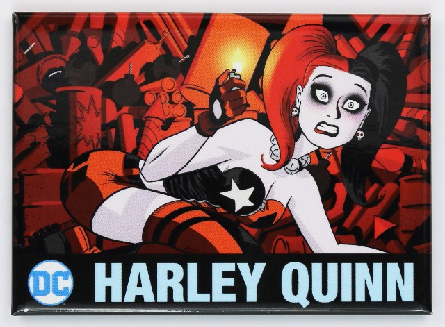 Harley Quinn FRIDGE MAGNET DC Comics Batman Joker Comic Book Superhero E24