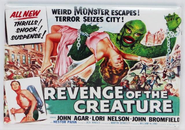 Revenge of the Creature Movie Poster FRIDGE MAGNET Universal Monster Film