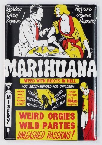 Marihuana Movie Poster FRIDGE MAGNET Marijuana Propaganda 1936 Film Pot Weed