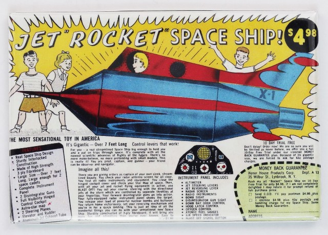 Jet Rocket Space Ship Toy Comic Book Ad FRIDGE MAGNET Vintage Advertisement Toy
