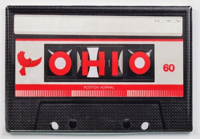 Ohio Cassette Tape FRIDGE MAGNET Ohio State OSU Music