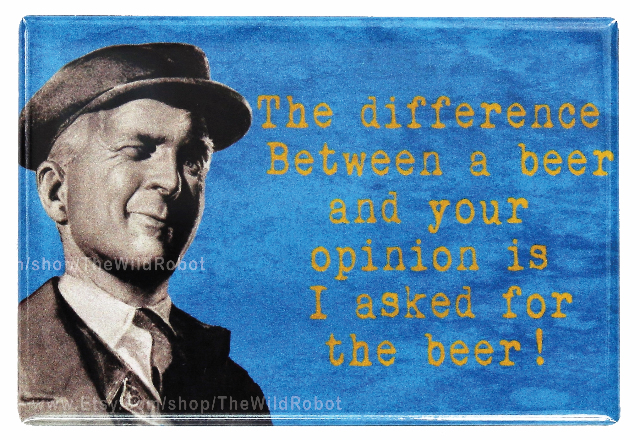 The Difference is I asked for the Beer FRIDGE MAGNET Funny Bar Alcohol College Humor Witty