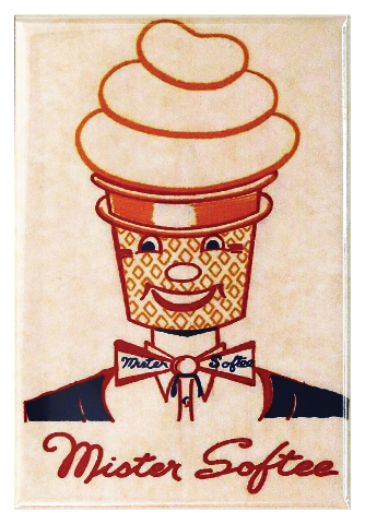 Mister Softee Ice Cream FRIDGE MAGNET Vintage Advertisement 1950s Kitchen