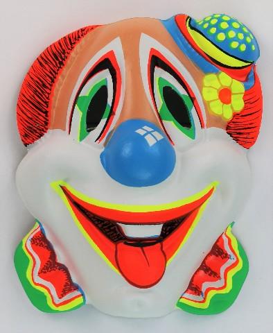 Vintage Clown Halloween Mask Zest Bars 60's 70's Black Light Reactive