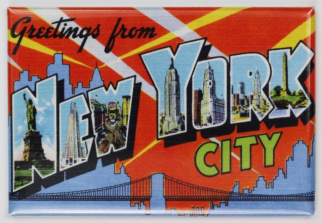 Greetings From New York City Postcard FRIDGE MAGNET NYC