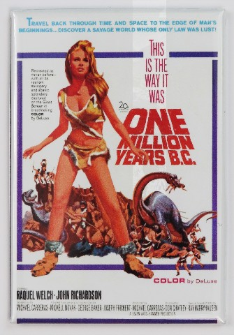 One Million Years B.C. Movie Poster FRIDGE MAGNET Sci Fi Raquel Welch