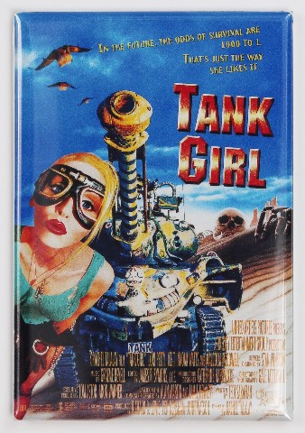 Tank Girl Movie Poster FRIDGE MAGNET 90's Comic Book Movie Sci FI