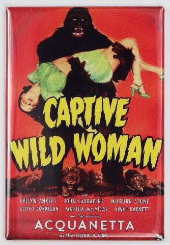 Captive Wild Woman Movie Poster FRIDGE MAGNET Classic 50's Sci Fi