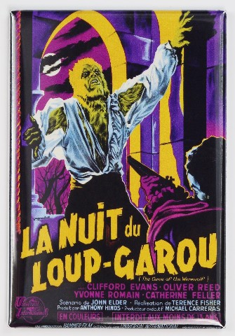 The Curse of the Werewolf French Version Movie Poster FRIDGE MAGNET Monster Horror