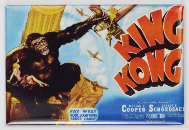 1933 King Kong Movie Poster FRIDGE MAGNET Monster Horror Sci Fi