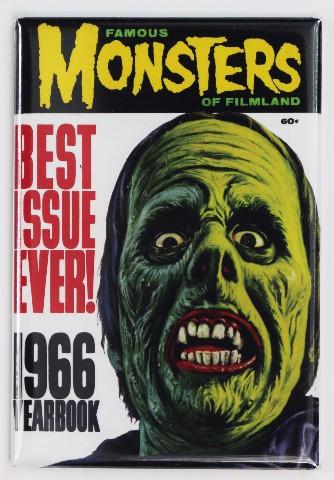 Famous Monsters of Filmland 1966 Yearbook FRIDGE MAGNET Monster Movies Zombie Vampire
