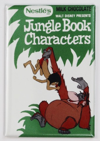 Nestle Disney Jungle Book Characters Milk Chocolate FRIDGE MAGNET Candy