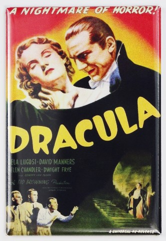 Dracula Movie Poster FRIDGE MAGNET Bela Lugosi Frankenstein Wolfman Monster