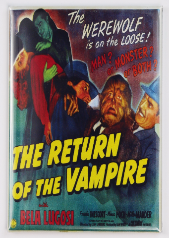 The Return of the Vampire Movie Poster FRIDGE MAGNET Dracula Bela Lugosi Frankenstein Wolfman Monster