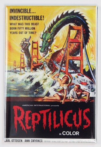 Reptilicus Movie Poster FRIDGE MAGNET Monster Film 1950's Sci Fi Dragon Serpent