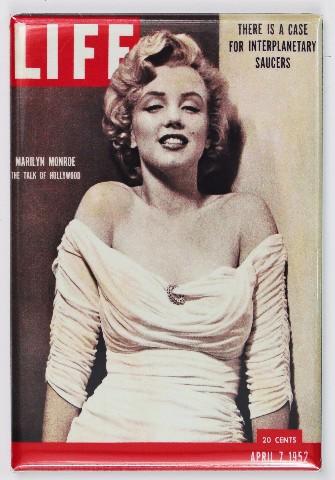 Marilyn Monroe Life Magazine Cover FRIDGE MAGNET Pin Up 1950's