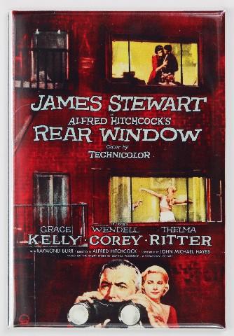 The rear window movie poster FRIDGE MAGNET Hitchcock Stewart Grace Kelly