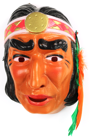 vintage indian halloween mask cesar 1970s 80s costume france warrior chief y09