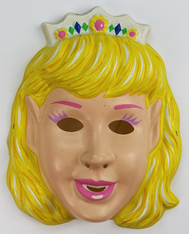 Vintage Princess Halloween Mask Beauty Queen Miss America Blonde Y104