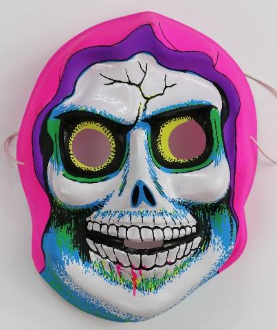 Vintage Death Skeleton Halloween Mask Skull Monster Demon Misfits Fiend Rare